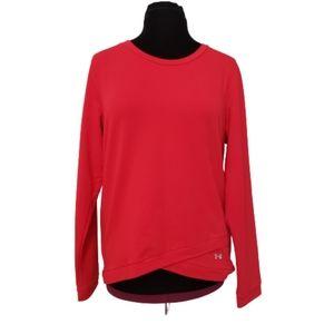 Under Armour Long Sleeve Red Sweatshirt XL